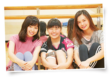 友野有理(クラス8) 雑誌 non-no 「パラスポgirlに会いたい!」掲載